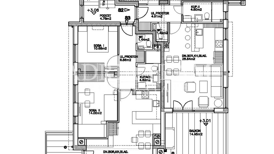 Holiday Apartment, 86 m2, For Sale, Pag - Šimuni