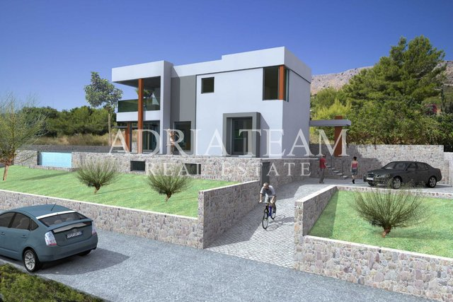 VILLA UNDER CONSTRUCTION WITH POOL, 280 M FROM THE SEA, PODSTRANA