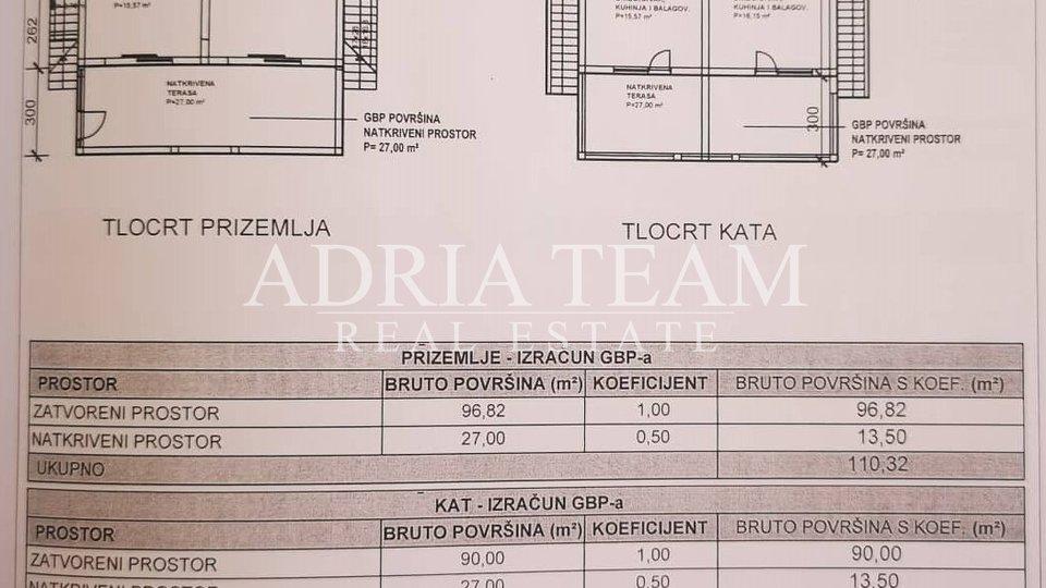 APARTMANSKA KUĆA S 4 STAMBENE JEDINICE, 150 M OD MORA, VIR - ZADAR