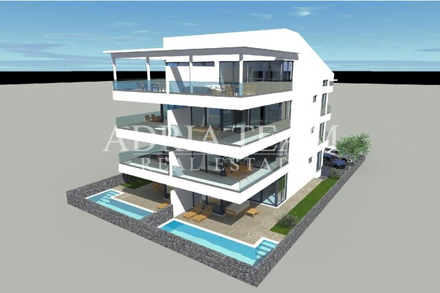 APARTMENTS, NEW BUILDING, 20 M FROM THE SEA - TOP POSITION !!! POVLJANA - PAG