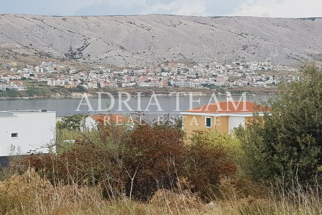 BUILDING LAND WITH SEA VIEW, 200 M FROM THE SEA, PAG