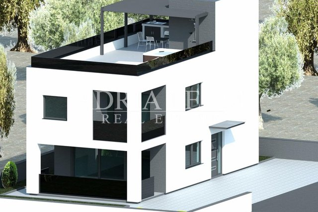 BUILDING LAND WITH PERMIT FOR BUILDING A HOUSE, VIR - ZADAR