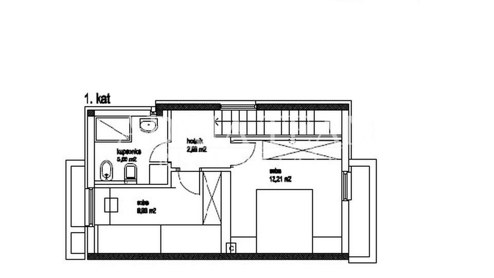 Ferienwohnung, 65 m2, Verkauf, Povljana