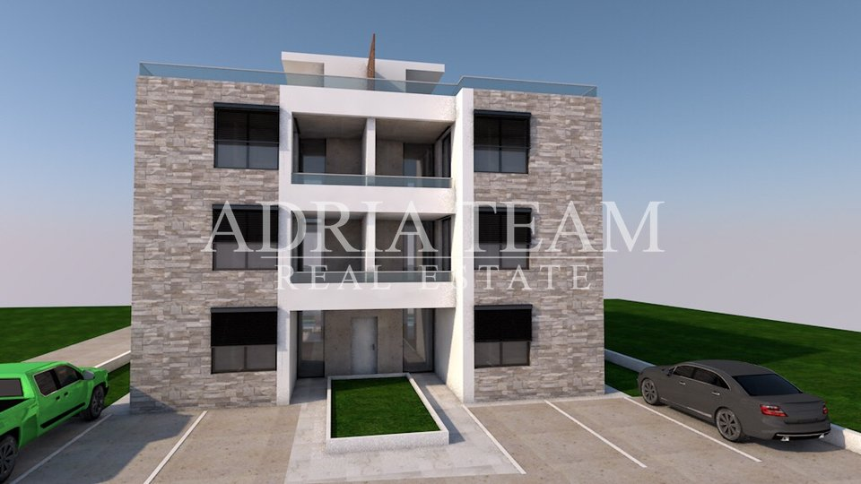 LUXURY APARTMENTS IN TOP POSITION, 50 M FROM THE SEA, BIBINJE